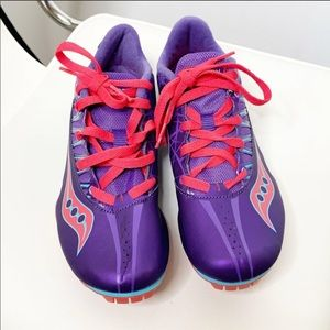 Saucony Spitfire 3 Purple Track Running Shoes